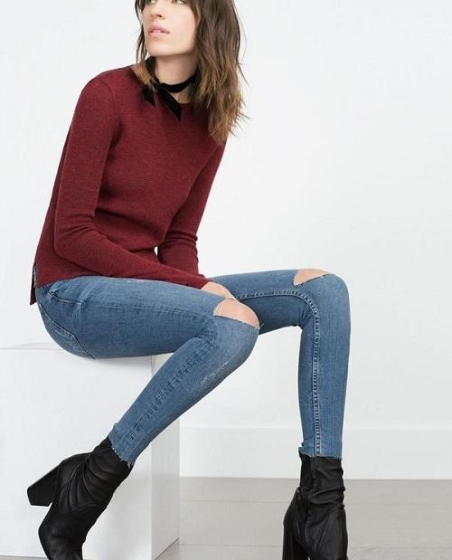 5-cach-phoi-quan-jeans-va-ao-len-tron-mau-giup-ban-them-noi-bat-11